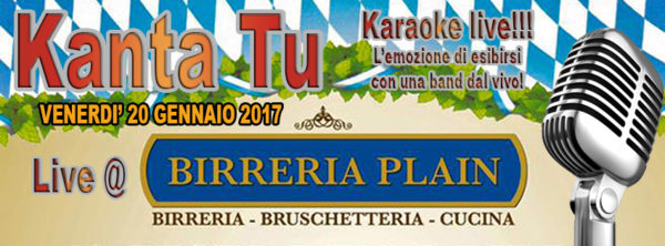 TreDi presenta Kanta Tu live @ Birreria Plain