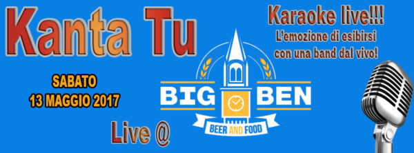 TreDi presenta Kanta Tu live @ Big Ben