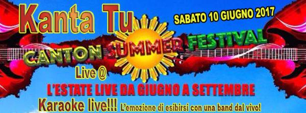TreDi presenta Kanta Tu live @ Canton Summer Festival