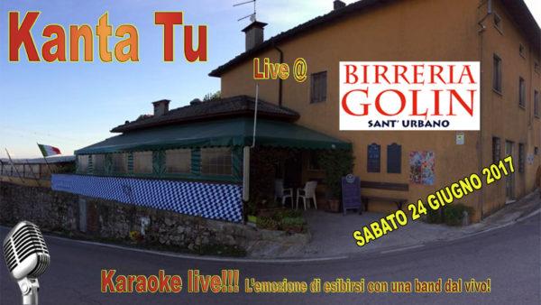TreDi presenta Kanta Tu live @ Birreria Golin