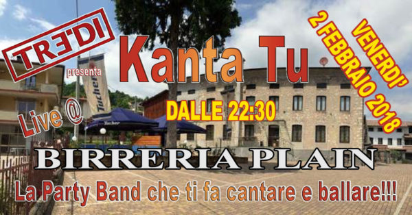 TreDi presenta Kanta Tu @ Birreria Plain