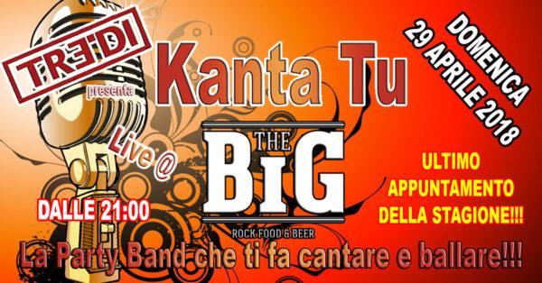 TreDi presenta Kanta Tu live @ The Big