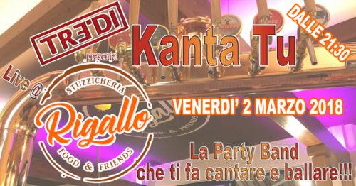 TreDi presenta Kanta Tu live @ Stuzzicheria Rigallo
