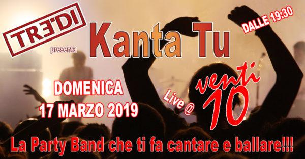 TreDi presente Kanta Tu live @ Venti10